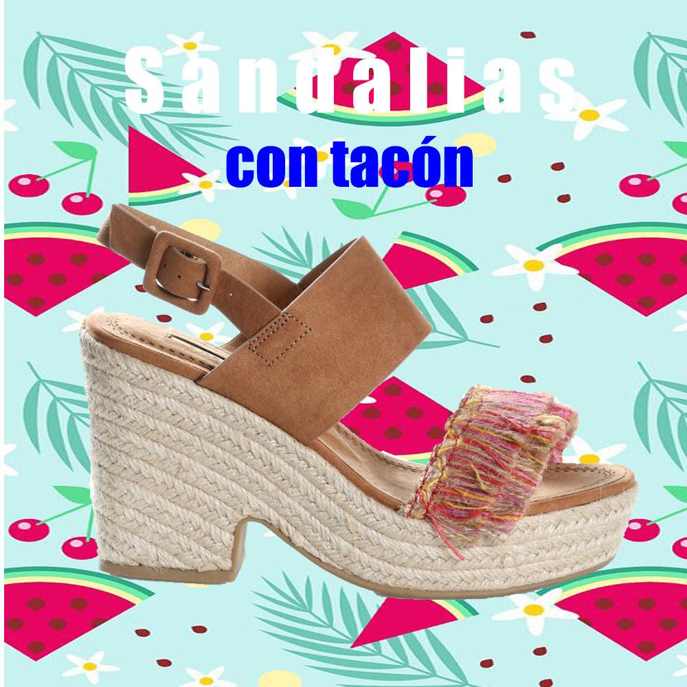 SANDALIAS CON TACON